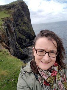 Angela on Isle of Skye in Scotland